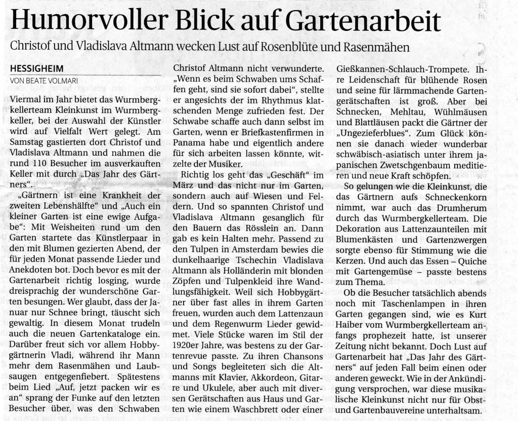 LKZ 11.04.16 Bericht Altmann