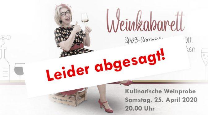 """Absage der """"Kulinarischen Weinprobe"""""""